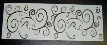 curly stencil