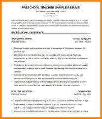 Teacher Resume Template For Word by Preschool Teacher Resume Template Substitute Teacher Resume