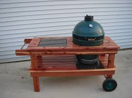 Green Egg Table by Cedar Question For Building A Table U2014 Big Green Egg Egghead