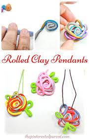 roll u0026 wrapped clay pendants u2013 the pinterested parent