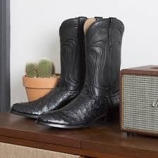 awesome motorcycle boots the wyatt a handmade full quill ostrich cowboy boot tecovas