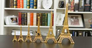 table centerpieces for home wedding decorations gold 3d eiffel tower model metal crafts