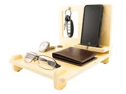 Wooden Desk Organizers The Handmade Wood Desk Organizer With Iphone 6 Station