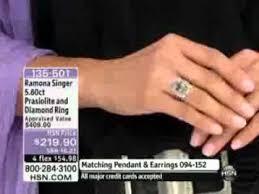 ramona singer earrings ramona singer 5 60ct prasiolite and diamond sterling silver ring