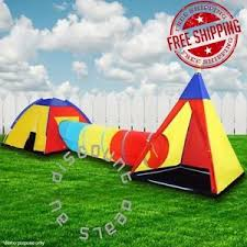 Backyard Teepee Kids Tunnel Tent Play Centre Backyard Pop Up Activity Teepee Dome