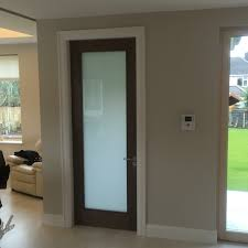 walnut internal door with frosted glass internal doors