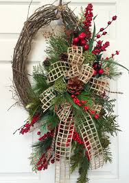 Grapevine Christmas Reindeer Decorations by Christmas Or Winter Oval Grapevine Wreath By Williamsfloral