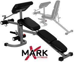 Flat And Incline Bench Amazon Com Xmark Fid Flat Incline Decline Weight Bench With Arm
