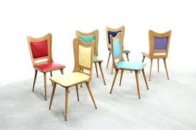 Colored Leather Dining Chairs Extraordinary Colored Dining Chairs View In Gallery Colorful