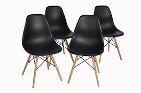 Dining Chair Eames Dining Chairs Furniturer Set Of 4 Dining Chairs Eames Style Seat