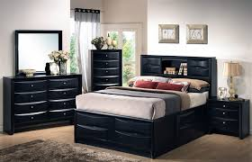Bookcase Bed Frame Briana 6 Piece Bookcase Bed Bedroom Set In Black Finish By Coaster