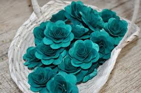 teal roses one dozen teal wooden roses accentsandpetalsecoweddings
