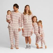 organic cotton fair isle family pajamas collection matching