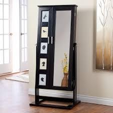 jewelry armoire full length mirror contemporary jewelry armoire walmart com