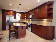 Kitchen Design Cherry Cabinets by Awesomebrandi Kitchen Layout Similar To Our Current One Cherry