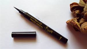 maybelline the colossal liner in black review swatches eotd and