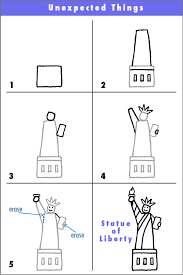 draw the statue of liberty draw with rich