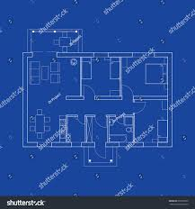 blueprint floor plan modern apartment suburban stock vector