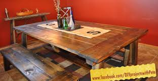 Plans For Making A Garden Table by How To Build A Farmhouse Table The Most Complete Video Online