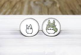 earrings for sensitive ears totoro earrings anime studio ghibli silver stud