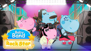 baby band hippo rockstar baby band for kids