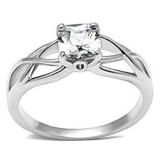 commitment ring elite intertwined rhodium solitaire commitment ring