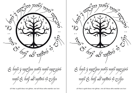 tree of gondor all that is gold in tengwar font te flickr