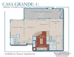 split bedrooms 2 bed 2 full bath rentals at tucson apartments in tanque verde valley
