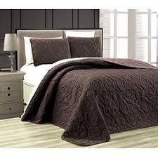 Taupe Coverlet Chocolate Brown Quilted Bedspread
