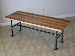 wood and pipe table custom reclaimed barn wood coffee table with industrial pipes by