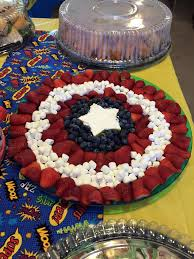 marvel baby shower baby shower captain america fruit tray baby