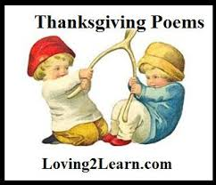 thanksgiving poems for great poems learn along