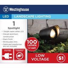 Westinghouse Low Voltage Led Landscape Lighting Westinghouse Low Voltage Spotlight Black Cy2001 08w Walmart