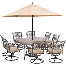 Outdoor Patio Dining Sets With Umbrella - 8 9 person umbrella patio dining furniture patio furniture