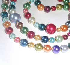 coloured bead necklace images The 43 best pearl glass bead necklaces images bead jpg