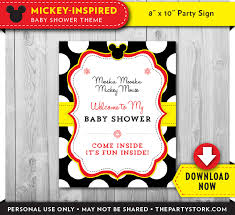 mickey mouse baby shower invitations printable theruntime