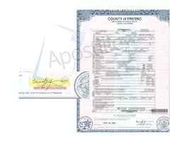 county of fresno certificate of death ready for apostille state
