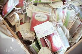 tea favors wedding favor tea bags rustic wedding favor bridal shower favors