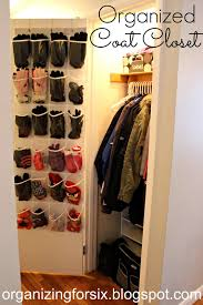 organizing for six organized coat closet