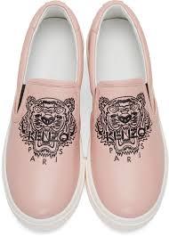 kenzo pink k py tiger platform slip on sneakers kenzo