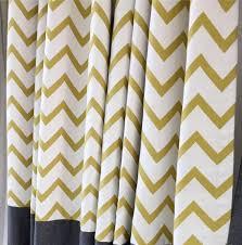 Chevron Pattern Curtains Chevron Jacquard Linen Cotton Blend Modern Living Room Curtains
