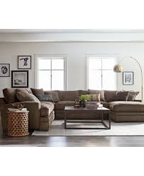 Macys Living Room Furniture Closeout Teddy Fabric Sectional Collection Created For Macy S