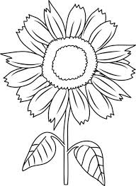 Beautiful Sunflower Coloring Page Download Print Online Sunflower Coloring Page