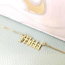 Custom Gold Name Necklace Necklaceday Popular U0026 Beautiful Necklaces