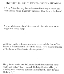 pythagorean theorem worksheets u2013 wallpapercraft