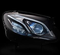 mercedes headlights let there be light the led headls of the new e class mercedes