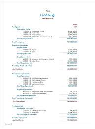 cara membuat laporan laba rugi komersial cara membuat laporan laba rugi perusahaan