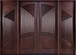 interior brown modern stained solid wood double door main doors