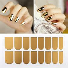 metallic nail foil wraps kesmall metallic nail stickers gold silver black cover nail