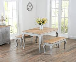 shabby chic dining room parisian 130cm grey shabby chic dining table with benches the